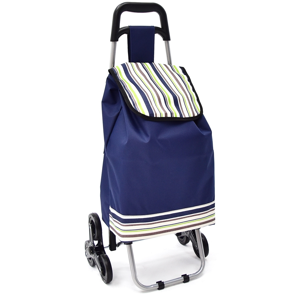爬樓梯折疊三輪拉桿購物車 3輪購物袋爬梯車買菜籃-快