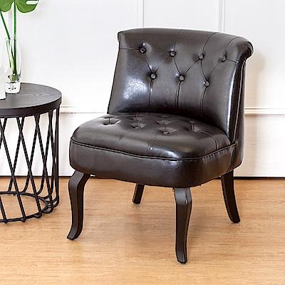 Bernice-路易美式復古風皮沙發單人座椅(二入組合)