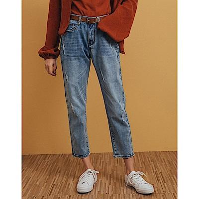 Shester55-刷色男友牛仔長褲(二色)-女【VSH033】