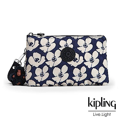Kipling 掛繩手拿包 夏日時光花卉印花-小