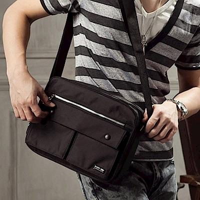 BuyGlasses 吉田風機能性雙口袋帆布側背包