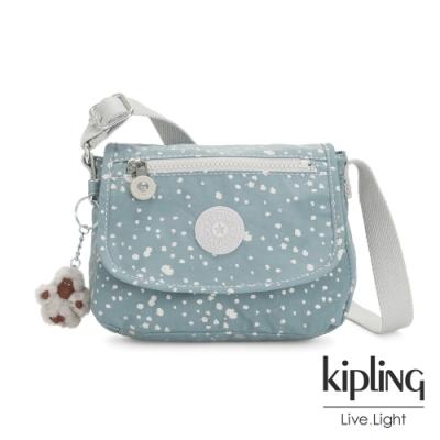 Kipling 純淨粉藍雪花掀蓋側背小包-SABIAN
