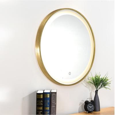 H&R安室家 80cm里昂 智能LED發光觸控圓型燈鏡 ZA0202(掛鏡/浴鏡/化妝鏡/鏡子)