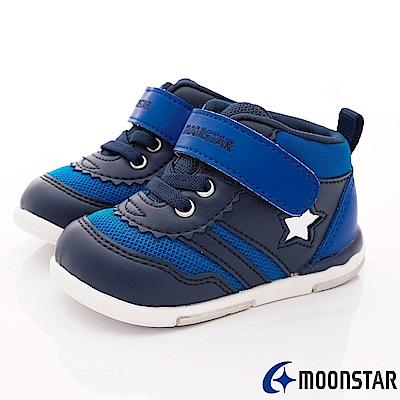 日本月星頂級童鞋 HI系列2E護踝款 NI58深藍(寶寶段)