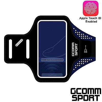 GCOMM SPORT 指紋辨識超輕薄雙層萊卡透氣親膚 4.8吋 運動臂帶 運動酷黑