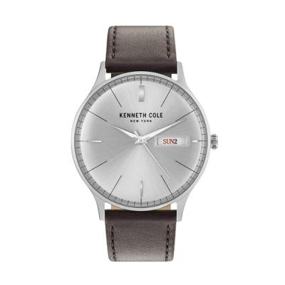 KENNETH COLE KC50589011 簡約時尚 日期 星期 真皮錶帶 中性錶
