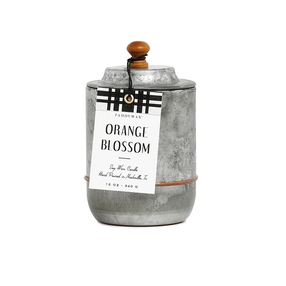 PADDYWAX 美國香氛 Homestead系列 橙花 復古工業風錫罐 340g