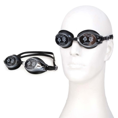 MIZUNO SWIM 日製基本泳鏡-蛙鏡 游泳 戲水 美津濃 N3JE601100-09 灰黑白