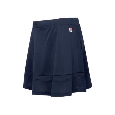 FILA 女抗UV吸濕排汗短裙-丈青 5SKT-5011-NV