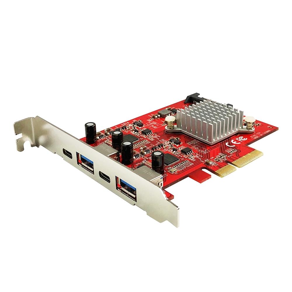 Awesome PCIe x4 4埠USB 3.1 Gen2 10Gbps擴充卡 - AWD-UB-160