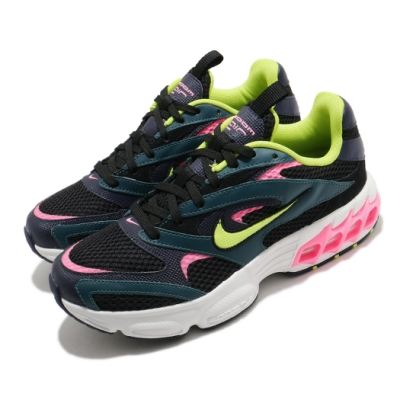 Nike 休閒鞋 Zoom Air Fire 運動 女鞋 氣墊 舒適 避震 簡約 球鞋 穿搭 黑 綠 CW3876300