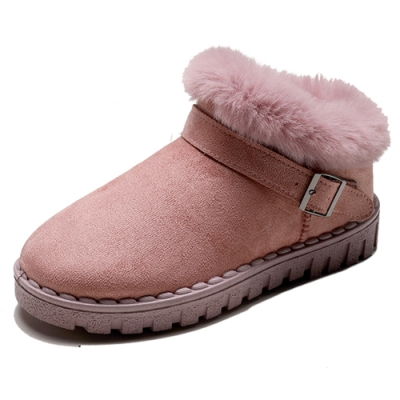 KEITH-WILL時尚鞋館-超有型自在穿搭絨毛保暖雪靴-粉色