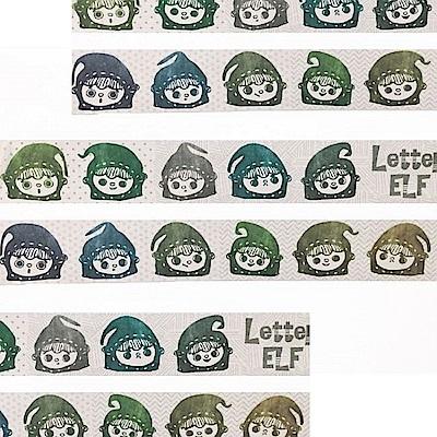 雙手牌-綠郵精表情貼圖紙膠帶(3cm)