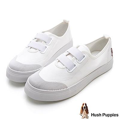Hush Puppies 鬆緊直套式懶人鞋-白色