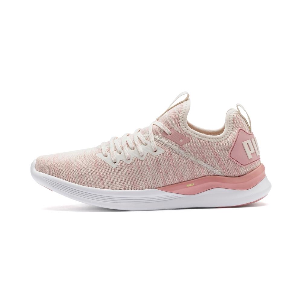 PUMA-IGNITE Flash evoKNIT 女性慢跑運動鞋-輕柔粉