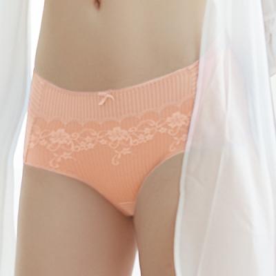 推EASY SHOP-時尚零感肌著 中腰平口褲(柔嫩橘)