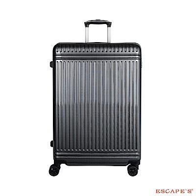 日本 ESCAPES 28吋 格紋拉鍊拉桿箱 灰色