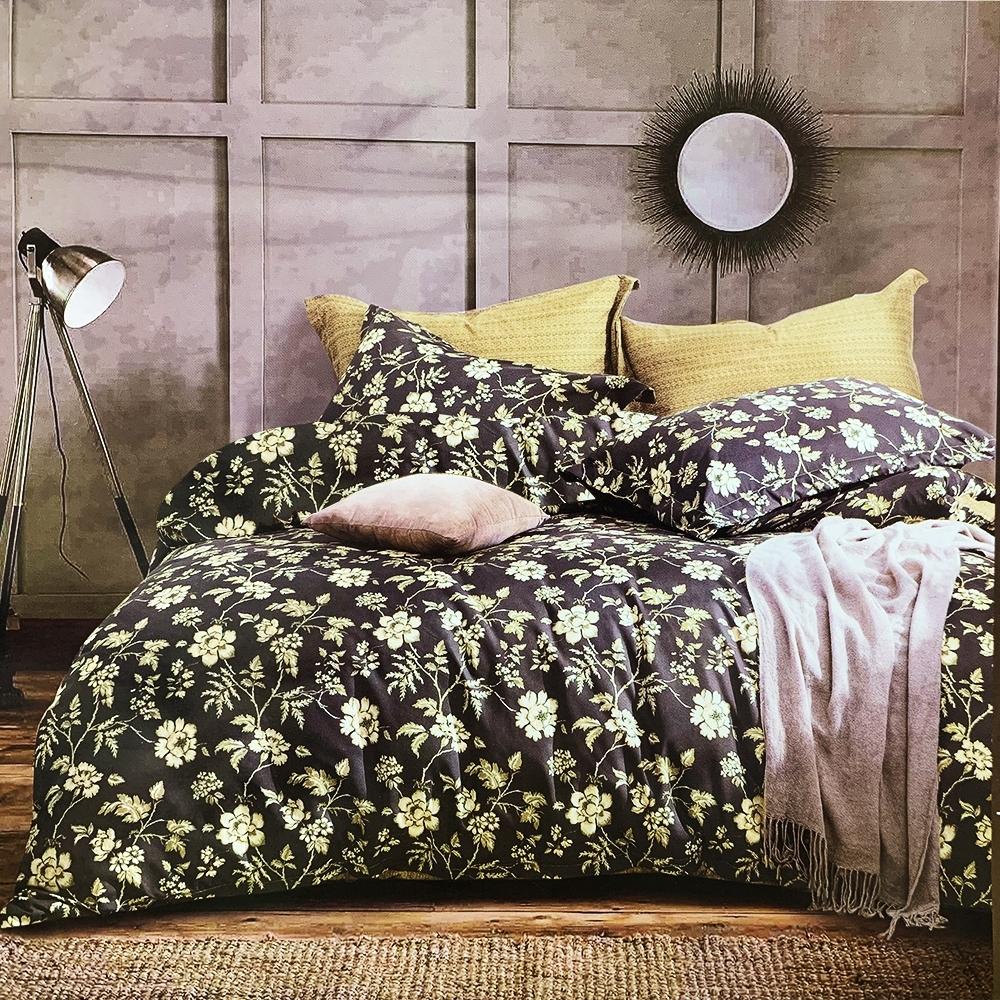 Goelia 藤幻蔓蕾 親膚舒柔活性印染超細纖單人床包枕套兩件組