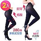 Dione 褲襪9分褲 280丹高彈力 塑壓美型(2雙)