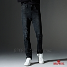BRAPPERS 男款 HM-中腰系列-黑色丹寧彈性直筒褲-黑