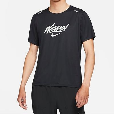 NIKE 上衣 短袖上衣 運動 慢跑 健身 男款 黑 DA1169010 AS M NK RISE 365 SS WR GX