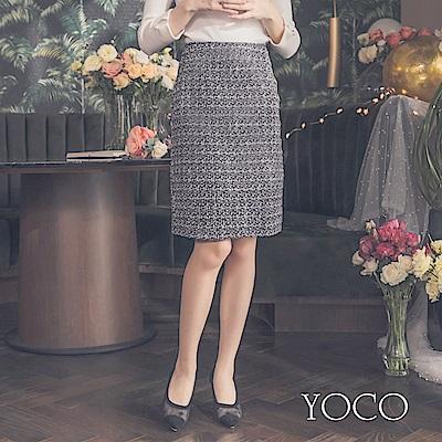 東京著衣-yoco 小香風赫本配色經典毛呢短裙-S.M.L(共一色)