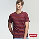 Levis 男款 短袖T恤 高密度膠印迷你Logo 學院紅條紋 product thumbnail 1