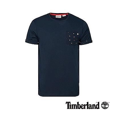 Timberland 男款深藍寶石色防紫外線短袖T恤|A1X23
