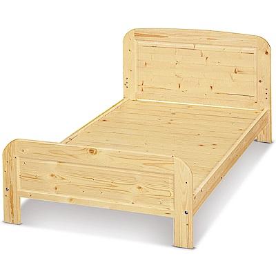 凱曼  艾比那白松木3.5尺單人床