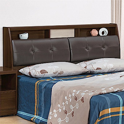 綠活居 麥柏斯時尚5尺皮革雙人床頭箱(不含床底)-152x26x99cm免組