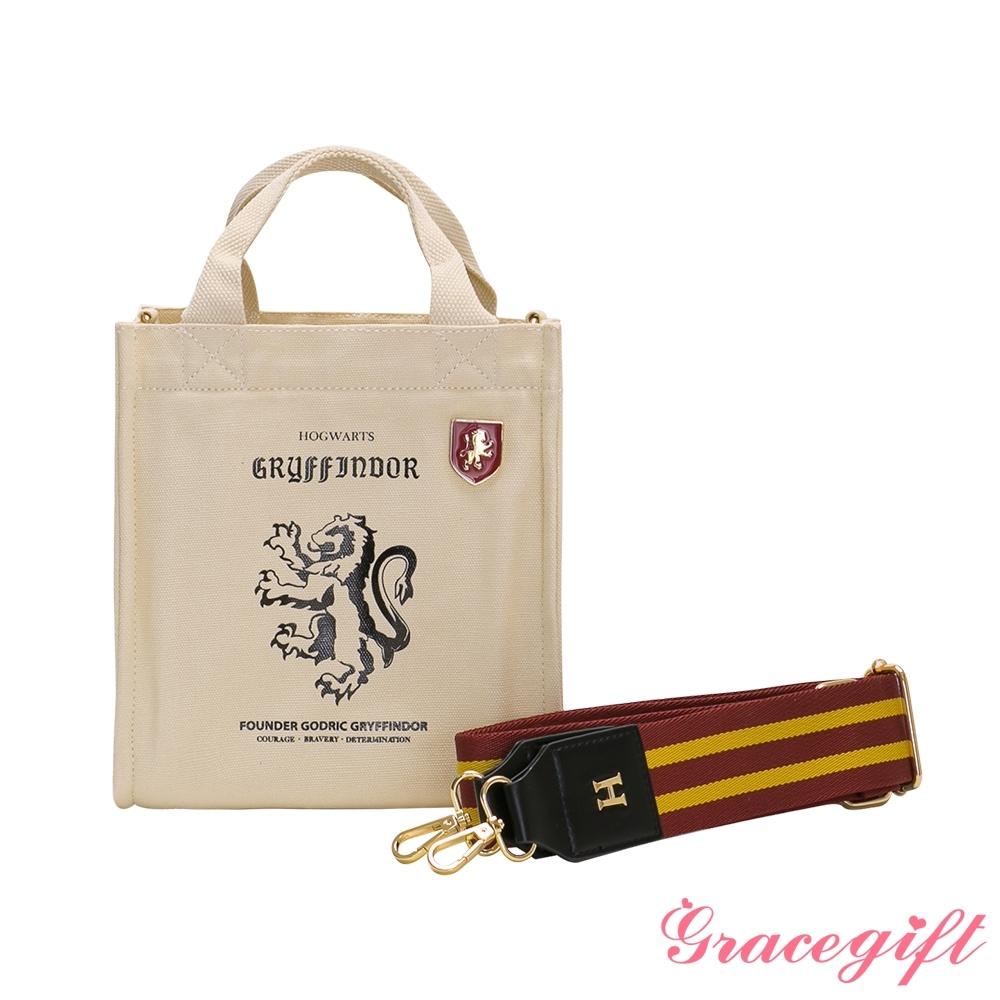Grace gift-哈利波特葛來分多寬帶帆布包 酒紅