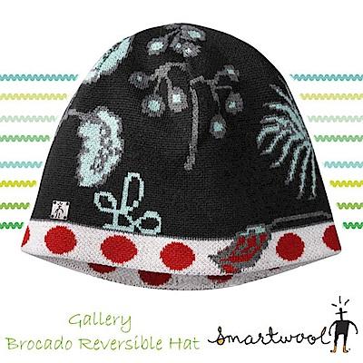 SmartWool 美麗諾羊毛 雙層雙面保暖帽_黑