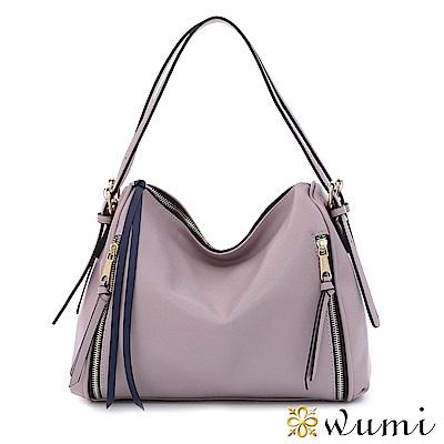 WuMi 無米 夏綠蒂率性流蘇壓紋包 浪漫紫