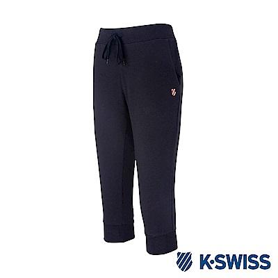 K-Swiss Capri Sweatshorts棉質七分褲-女-黑