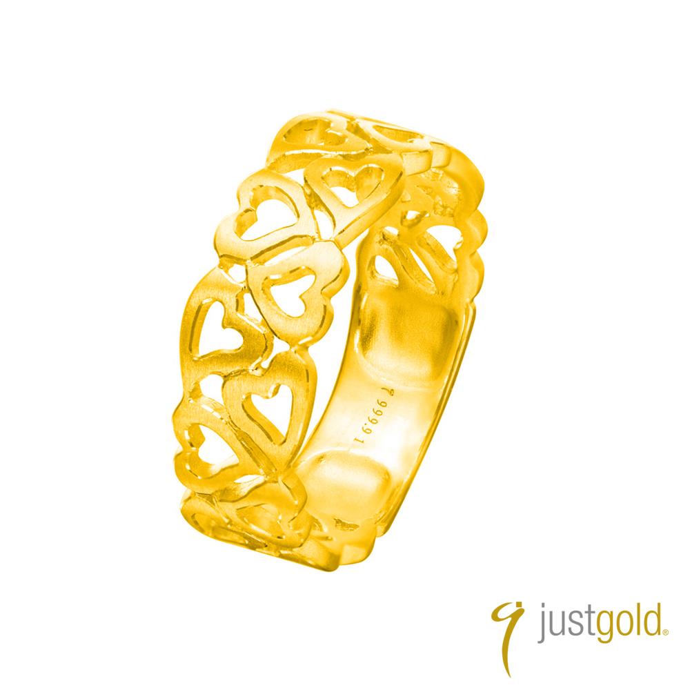鎮金店Just Gold熱愛系列(純金)-黃金戒指