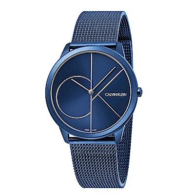CALVIN KLEIN minimal 系列簡約腕錶-藍色藍面/40mm
