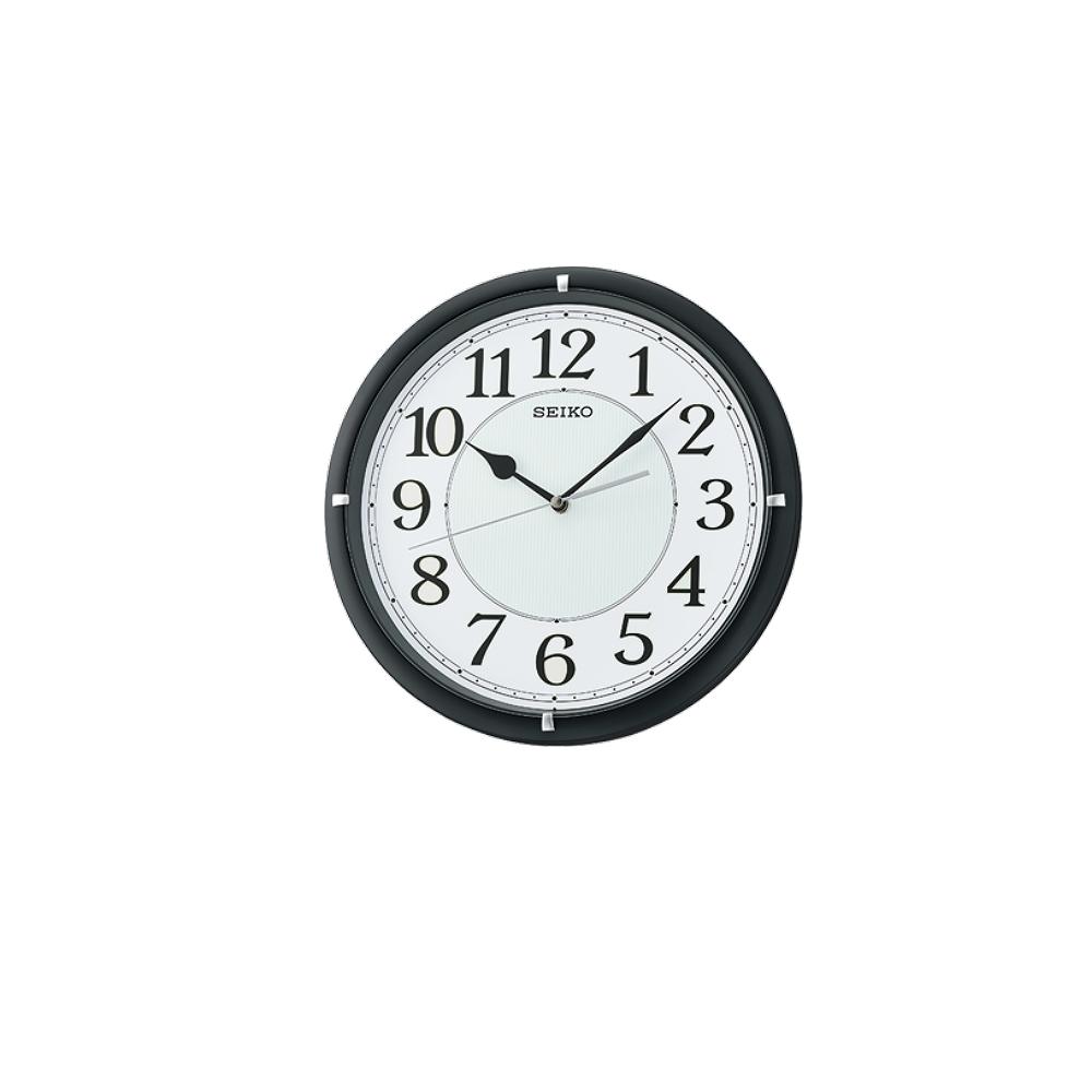 SEIKO 日本精工 滑動式秒針 靜音掛鐘(QXA734K)-黑/31cm