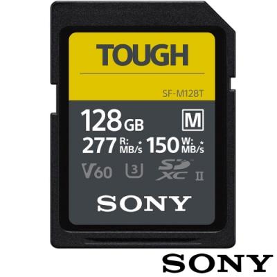 SONY SF-M128T SD SDXC 128G 128GB 277MB/S V60 TOUGH UHS-II 高速記憶卡 (公司貨) 支援 4K