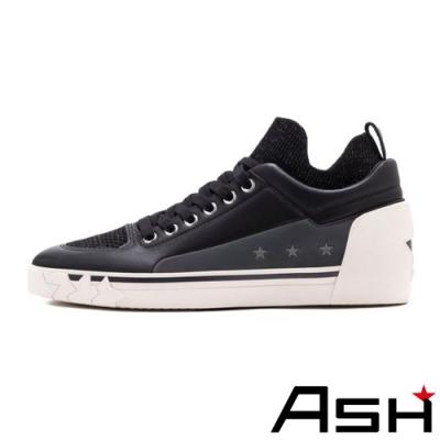 ASH-NIPPY魔術貼透氣素面滑板鞋-黑
