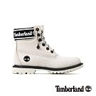 Timberland 女款白色磨砂革LOGO鞋領經典6吋靴 A24JJ