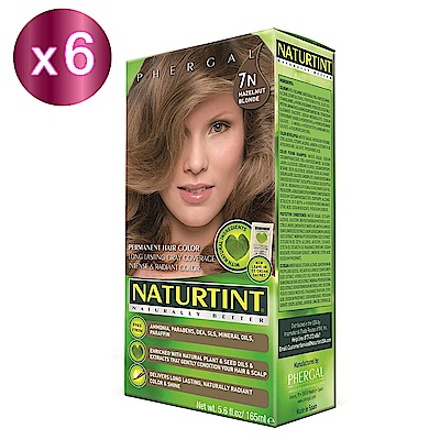 NATURTINT 赫本染髮劑 7N亞麻淺棕色x6 (155ml/盒)