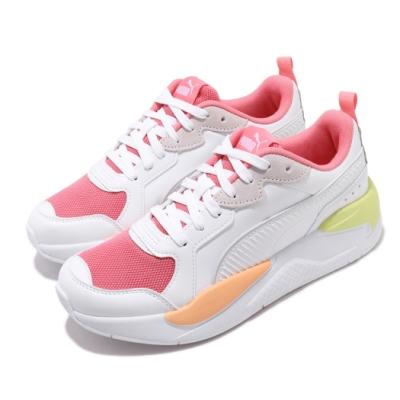 Puma 休閒鞋 X Ray Game 運動 女鞋 基本款 簡約 皮革 舒適 穿搭 球鞋 白 粉 37284903