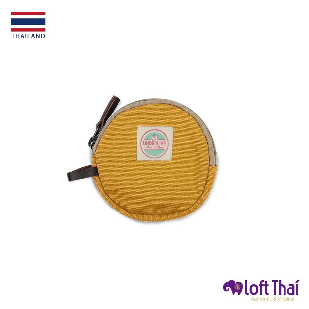 Loft THAI | 泰.圓型帆布零錢包 | Mustard