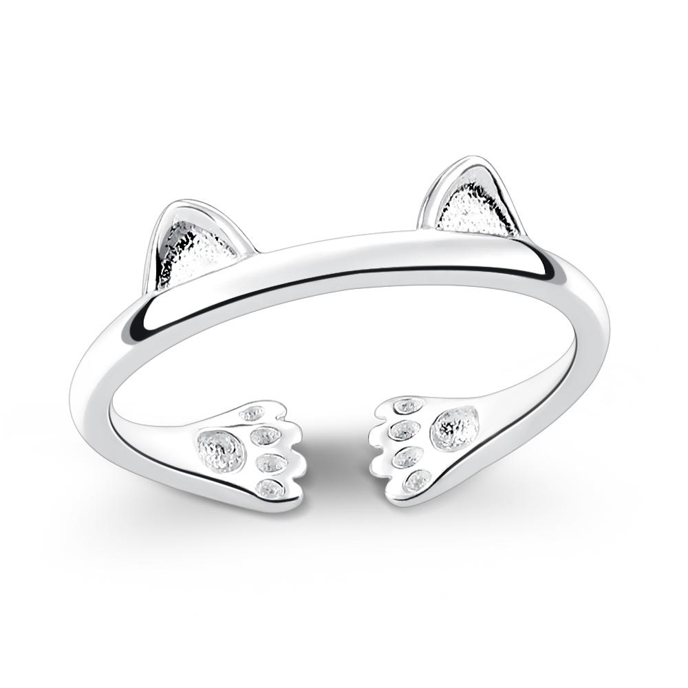 Majalica貓咪開口925純銀戒指推薦品牌 愛的擁抱女戒尾戒 單個價格(MIT)