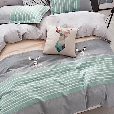 La Lune 台灣製100%40支精梳純棉雙人特大床包枕套三件組 田澤湖畔