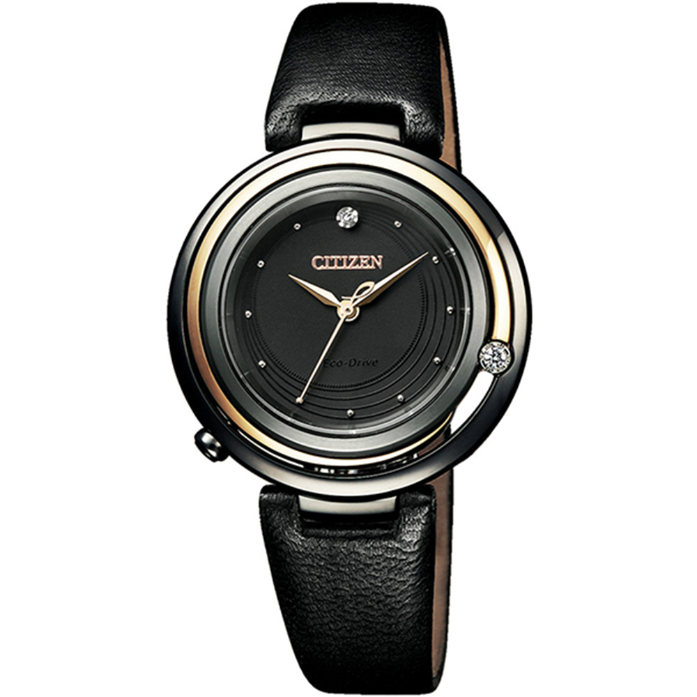 CITIZEN 星辰100週年珍藏系列XC系列奢華限量鑽石皮帶腕錶EM0659-17E @ Y!購物