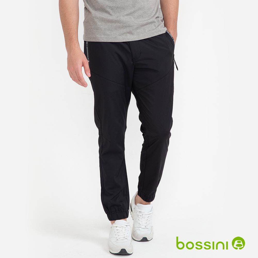 bossini男裝-彈性束口長褲01黑