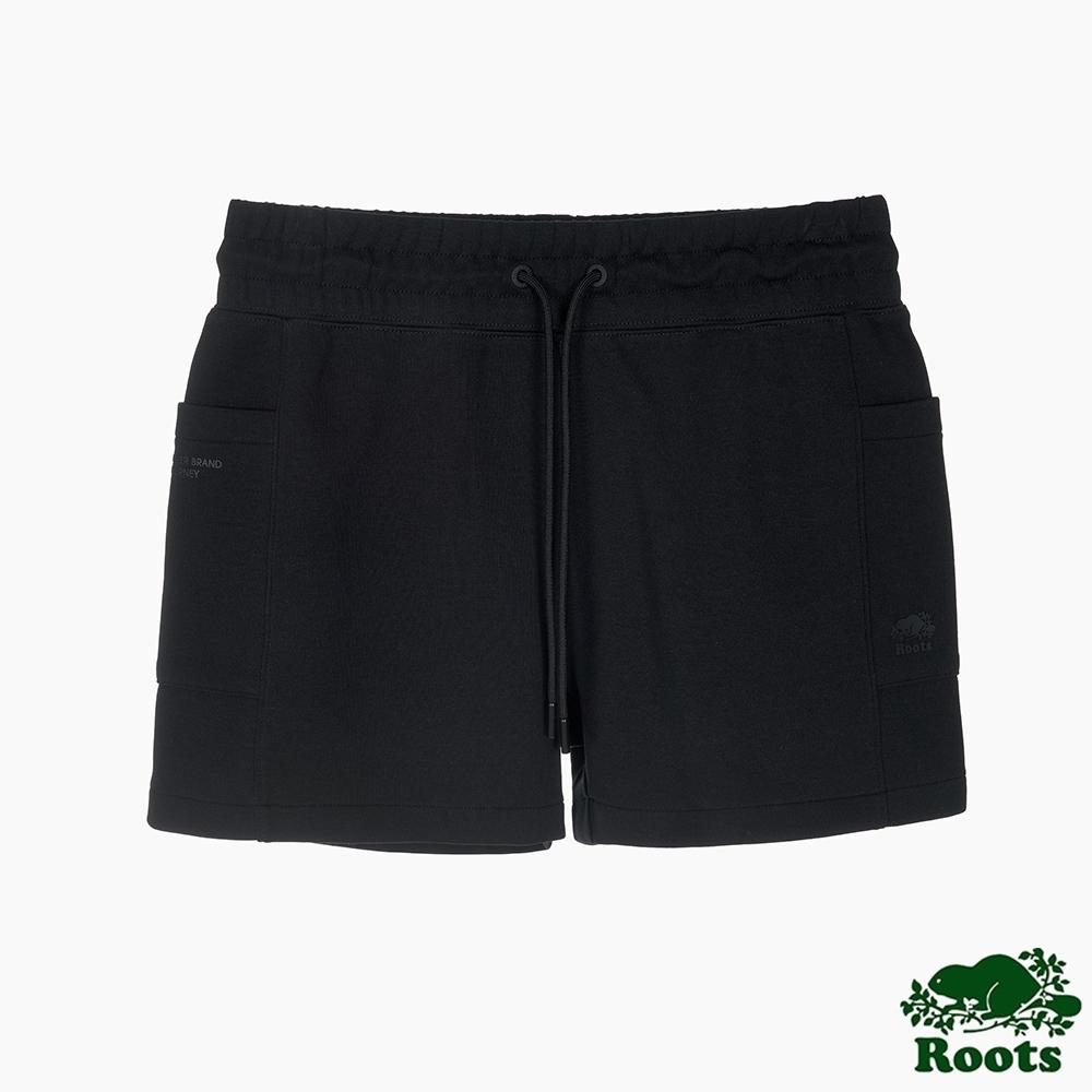 Roots 女裝- 城市悠遊系列短褲-黑色