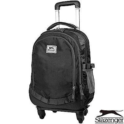 Slazenger 史萊辛格 加大款可拆式拉桿後背包(黑)