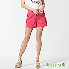 bossini女裝-休閒印花短褲02珊瑚色